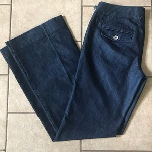 WHBM Trouser Jeans Noir Flare Size 4R